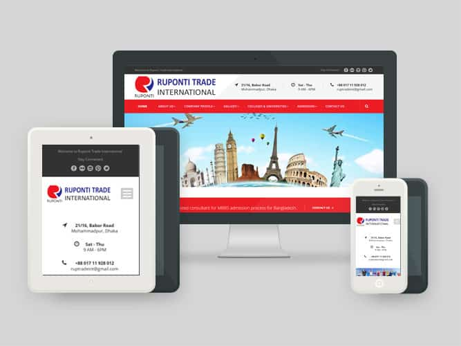 Website, Ruponti Trade International